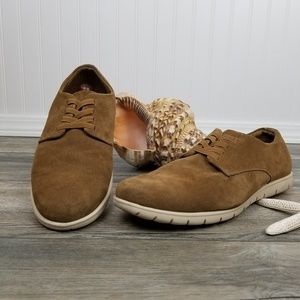 Bruno Marc tan suede slip on oxfords Sz 13